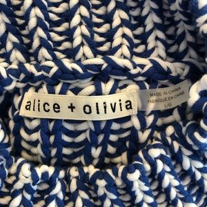 a728b7197b8 Alice + Olivia Tops - Alice + Olivia Tomi Sleeveless Sweater blue white